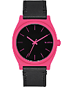 Nixon Time Teller Pink & Black Analog Watch