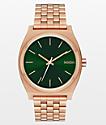 Nixon Time Teller Rose Gold & Emerald Green Analog Watch