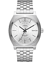 Nixon Time Teller Silver Stamped Watch