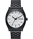 Nixon Timeteller Black Crackle Watch