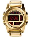 Nixon Unit SS Gold Digital Watch
