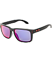 Oakley Holbrook Matte Black & Positive Red Iridium Sunglasses