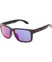 Oakley Holbrook Matte Black & Positive Red Iridium Sunglasses
