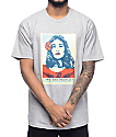 "Obey ""We The People"" Defend Dignity Heather Grey T-Shirt"