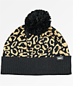 Obey Anise Leopard Pom Beanie