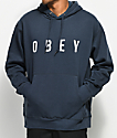 Obey Anyway Navy Hoodie
