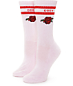 Obey Borden Pale Pink Crew Socks