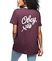 Obey Careless Whispers Burgundy Classic T-Shirt