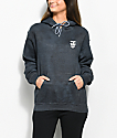 Obey Creeper Static Black Tie Dye Hoodie