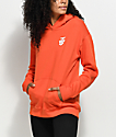 Obey Creeper Static Delacy Orange Hoodie