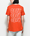 Obey Creeper Static camiseta en color naranja de amapola