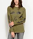 Obey Debbie Harry Visage Green Long Sleeve T-Shirt