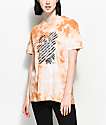 Obey Defiant Rose Dusty Caramel Tie Dye T-Shirt