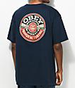 Obey Dissent MFG Wreath Navy T-Shirt