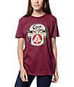 Obey Dissent Till The End Burgundy T-Shirt