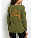 Obey Don't Look Back Olive Long Sleeve T-Shirt