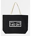 Obey Eyes Black Tote Bag