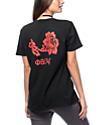 Obey Flower Black T-Shirt