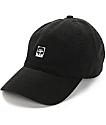 Obey Half Face Icon Black Strapback Hat