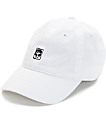 Obey Half Face Icon White Strapback Hat