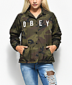 Obey Hard Core Camo Coaches Jacket
