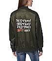 Obey Hooligans Satin Forest Bomber Jacket