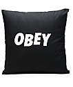 Obey Jumble Black Pillow