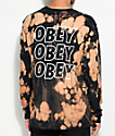 Obey Jumble Lo-Fi Black Bleach Long Sleeve T-Shirt