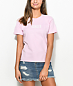 Obey Labour Of Love Chain Pink T-Shirt