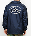Obey Lineas Navy & White Coaches Jacket