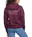 Obey Lo-Fi Maroon Hoodie