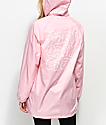 Obey Lofi Pink Hooded Trench Jacket