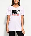 Obey Main Street Light Pink T-Shirt