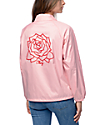 Obey Mira Rosa Pink Coaches Jacket