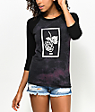 Obey Nobodys Flower Black Baseball T-Shirt