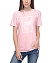 Obey Nobodys Flower Pink T-Shirt