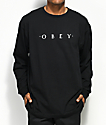 Obey Novel Black Long Sleeve T-Shirt