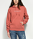 Obey Novel Dusty Rose Hoodie