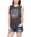 Obey Paint Spill Black Moto Muscle Tank Top