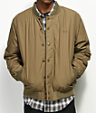 Obey Ranks Light Army Green Bomber Jacket
