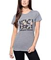 Obey Rose Bud OG Navy & Heather Grey T-Shirt