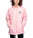 Obey Rue De La Ruine Pink Coaches Jacket