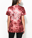 Obey Since 89 Burgundy Tie Dye T-Shirt