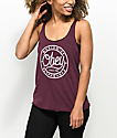 Obey Since 89 Burgundy Track Tank Top