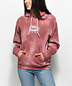 Obey Spazz Dusty Rose Tie Dye Hoodie