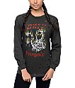 Obey Spider Hand Dusty Black Long Sleeve T-Shirt