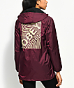 Obey Swirl Burgundy Hooded Coaches Jacket