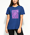 Obey Swirl Classic Blue  & Violet T-Shirt