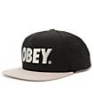 Obey The City Black & Silver Snapback Hat