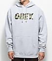Obey Tiger Camo Font Grey Hoodie